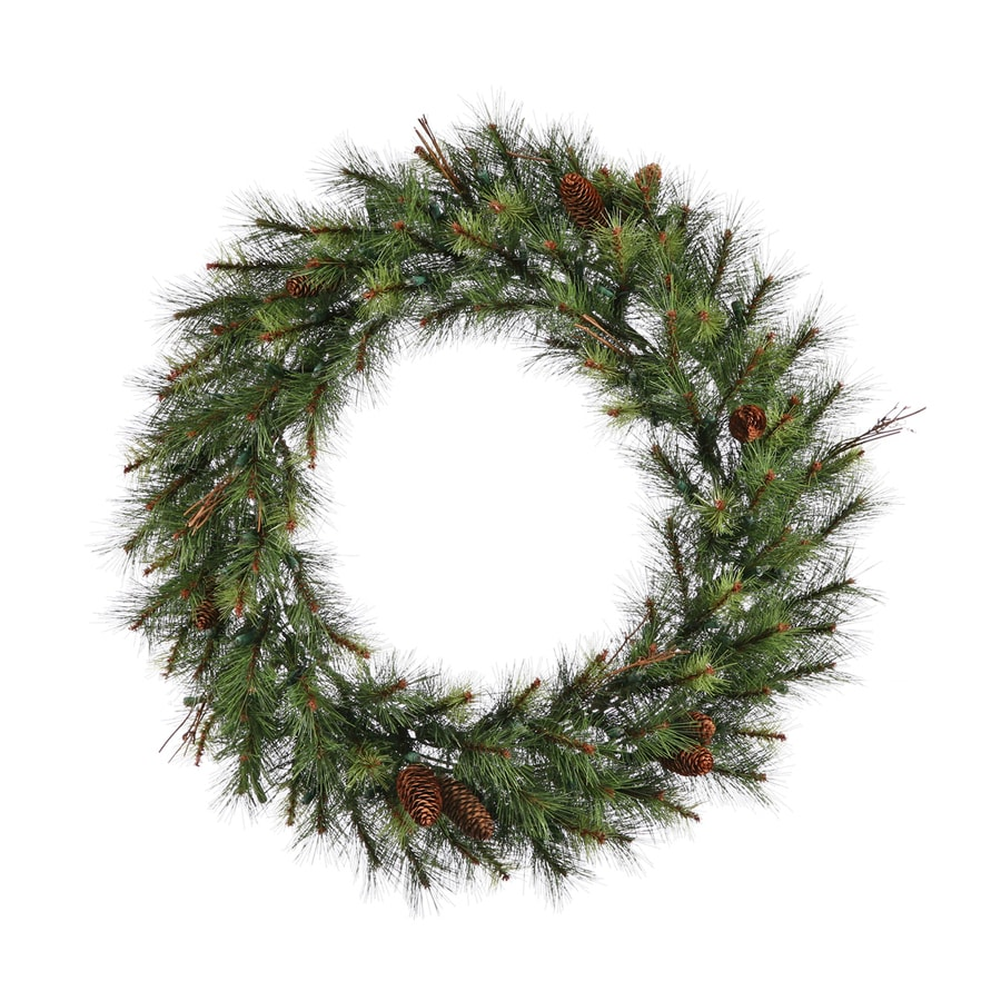 Vickerman 36-in Pine Artificial Christmas Wreath