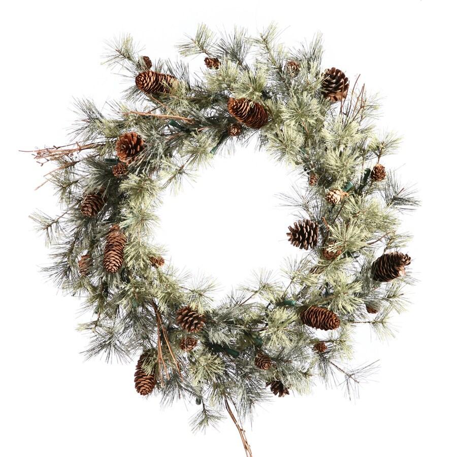 Vickerman 30-in Unlit Pine Artificial Christmas Wreath