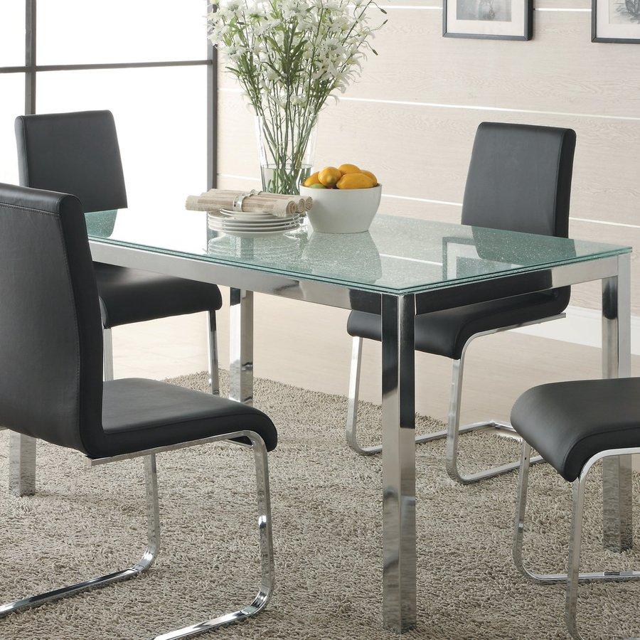 Homelegance Knox Chrome/Black Rectangular Dining Table