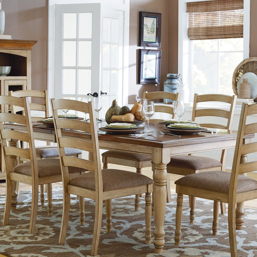 Homelegance Nash Buttermilk/Burnished Oak Rectangular Dining Table