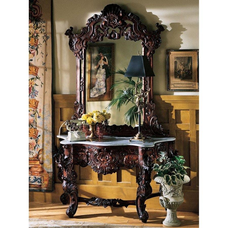 Design Toscano Antique Mahogany Rectangular Console and Sofa Table