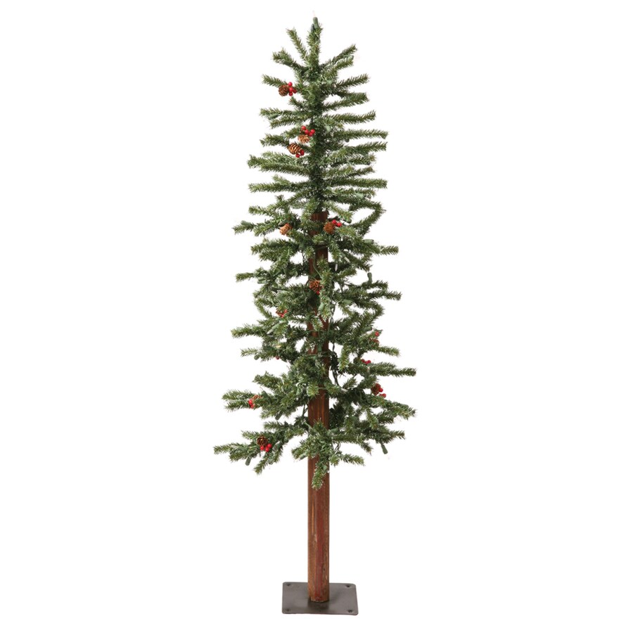Vickerman 3-ft Pre-Lit Winterberry Slim Artificial Christmas Tree with White Incandescent Lights