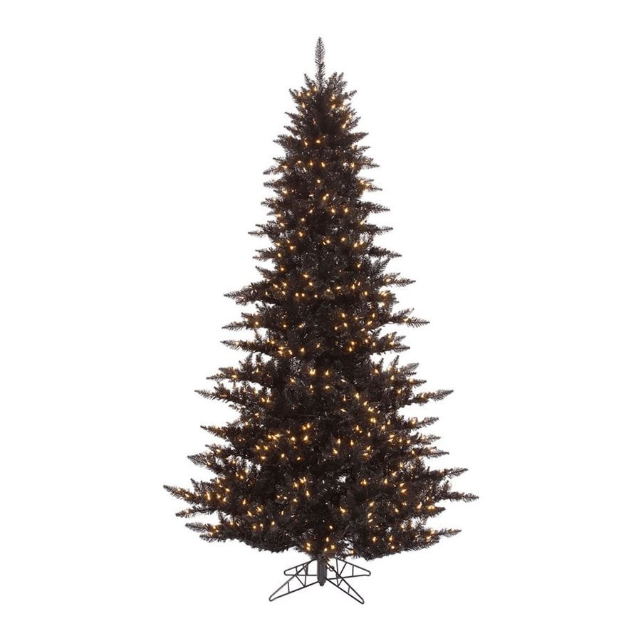 Vickerman 4.5-ft Pre-Lit Slim Artificial Christmas Tree with White Clear Incandescent Lights