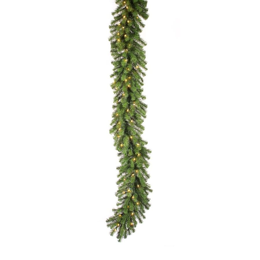 Vickerman 16-in x 50-ft Pre-Lit Douglas Fir Artificial Christmas Garland with White Incandescent Lights