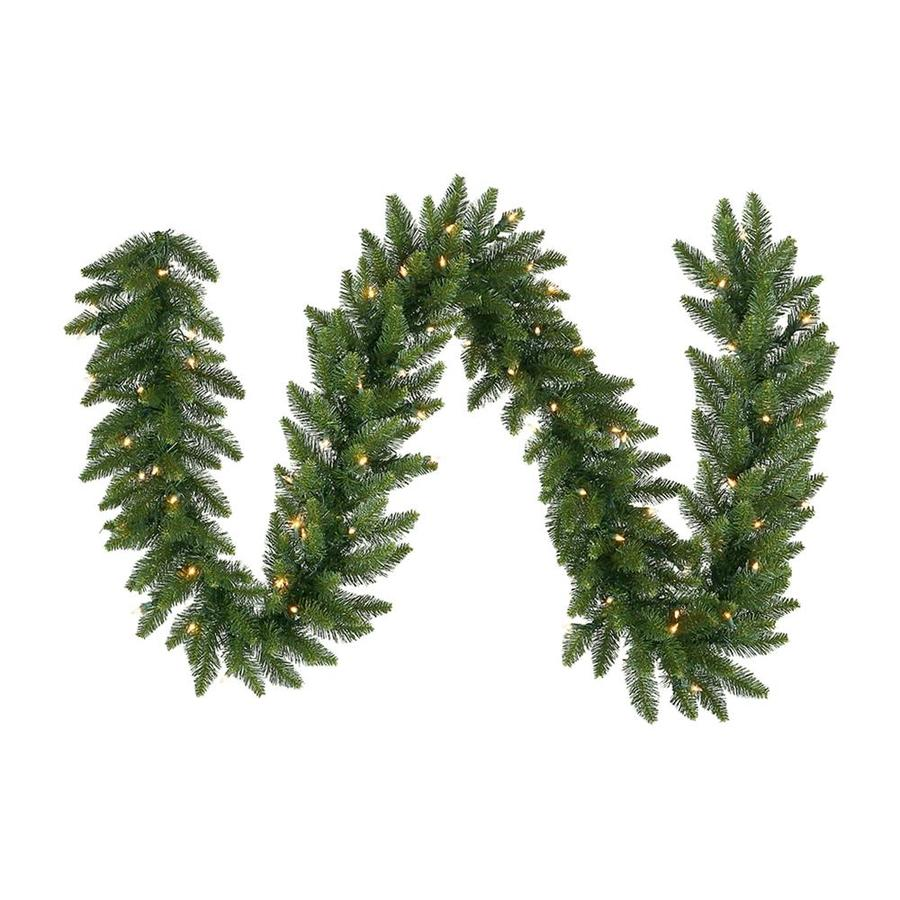 Vickerman 50-ft Indoor Camdon Fir Artificial Christmas Garland with Clear LED Lights