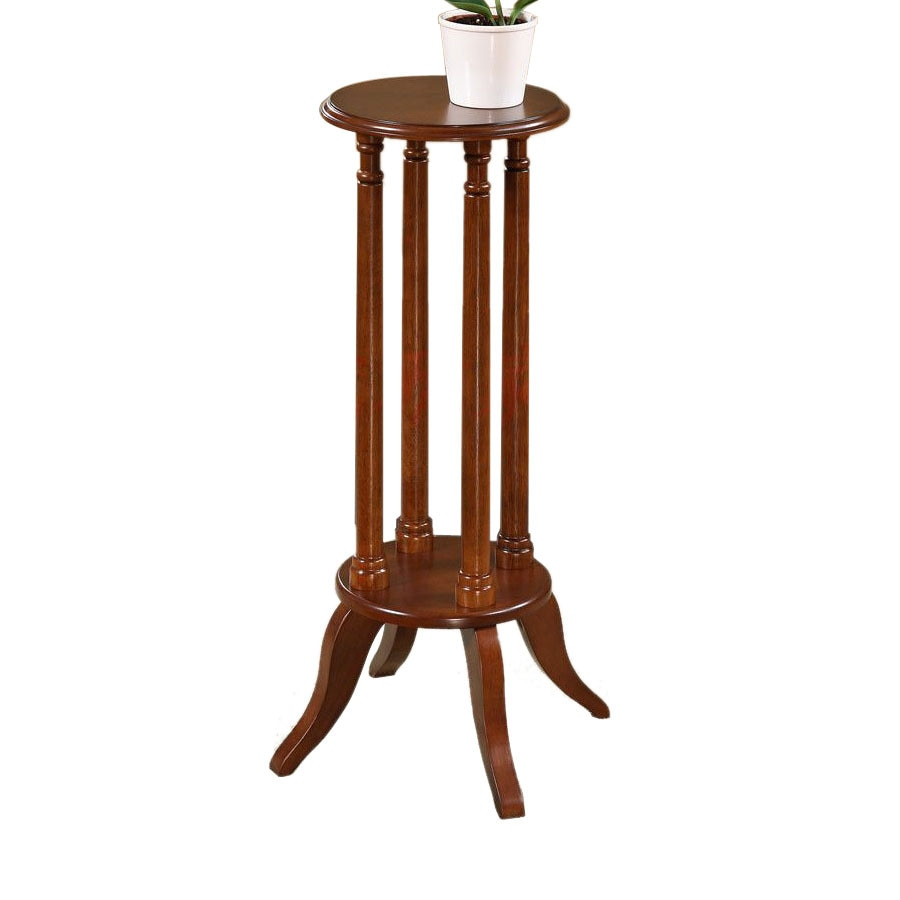 Shop all things cedar 24 in cherry indoor round composite Plant stands for indoors