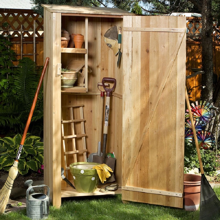 All Things Cedar Lean-To Cedar Wood Storage Shed (Common: 2-ft x 2-ft; Interior Dimensions: 2-ft 0.5-in x 1-ft 5-in)