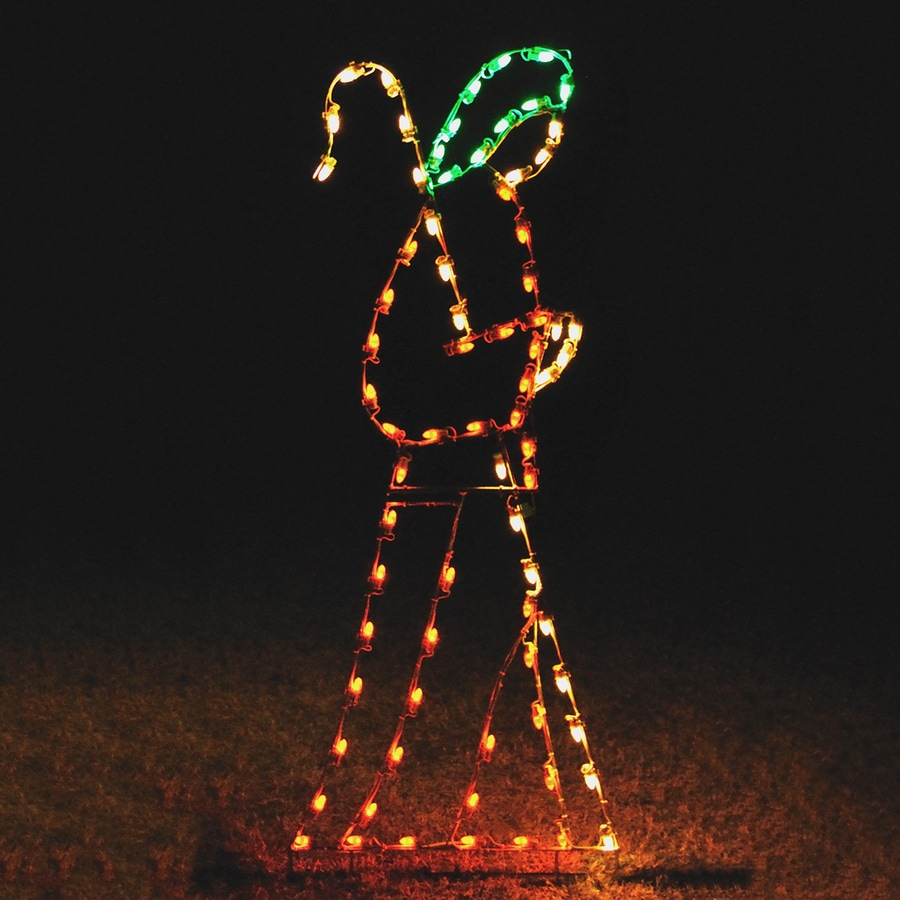 Holiday Lighting Specialists 7.75-ft Shepherd and Crook Outdoor Christmas Decoration with LED Multicolor Lights