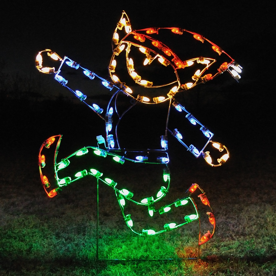 Holiday Lighting Specialists 5-ft Running Elf Outdoor Christmas Decoration with LED Multicolor Lights
