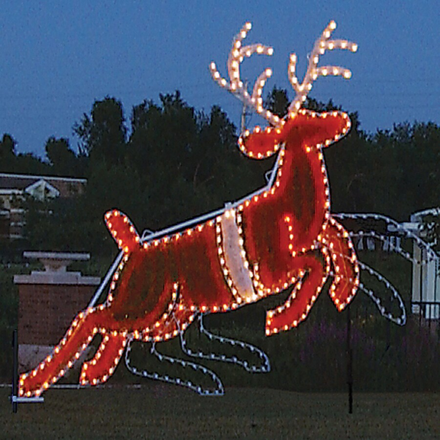 Specialists animated reindeer outdoor christmas decoration