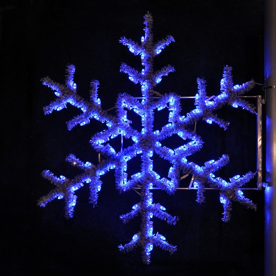 Shop holiday lighting specialists 5 ft garland snowflake for Led outdoor christmas ornaments