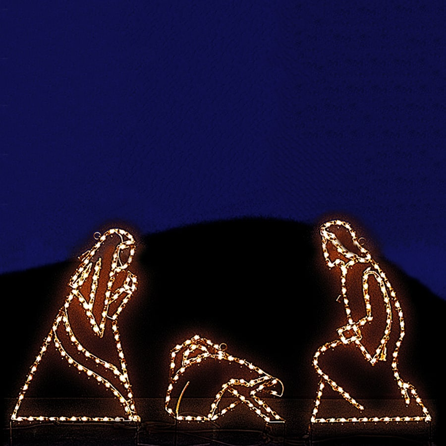 Holiday Lighting Specialists 3-ft Small Joseph, Mary and Jesus Outdoor Christmas Decoration with Incandescent White Lights