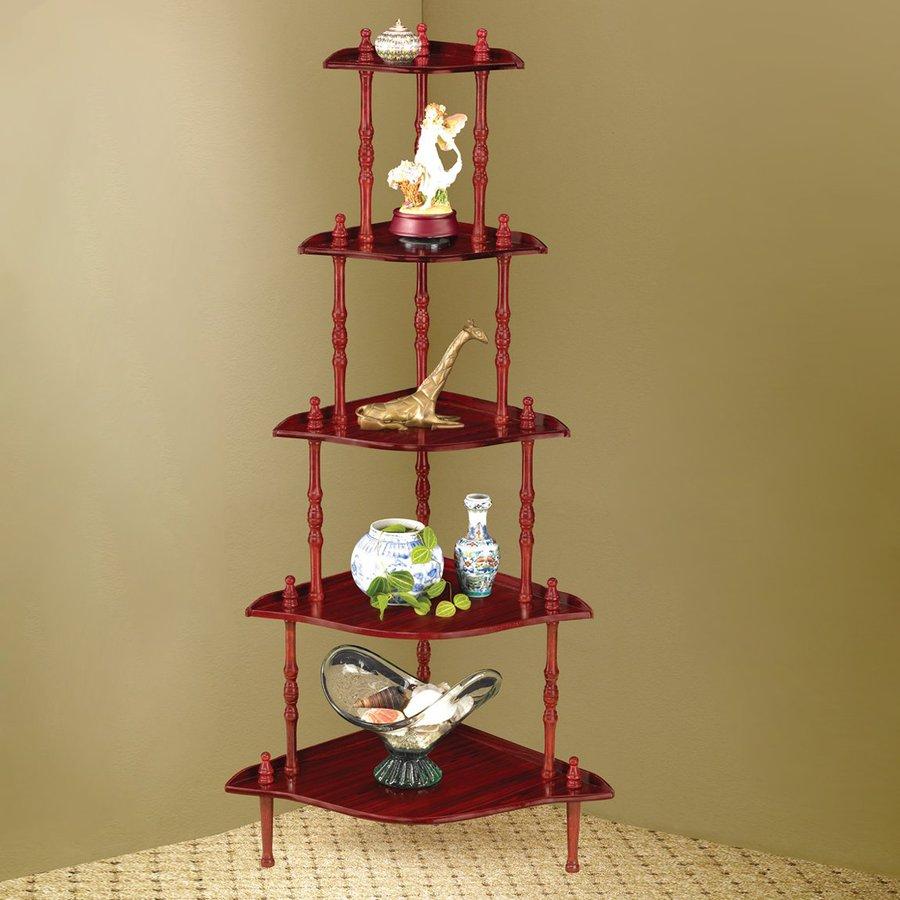 shop coaster fine furniture cherry corner etagere at. Black Bedroom Furniture Sets. Home Design Ideas
