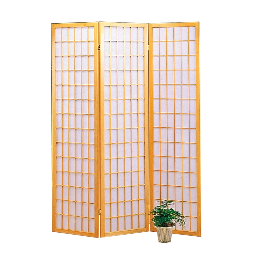 Shop coaster fine furniture 3 panel natural wood and for Wood privacy screen panels
