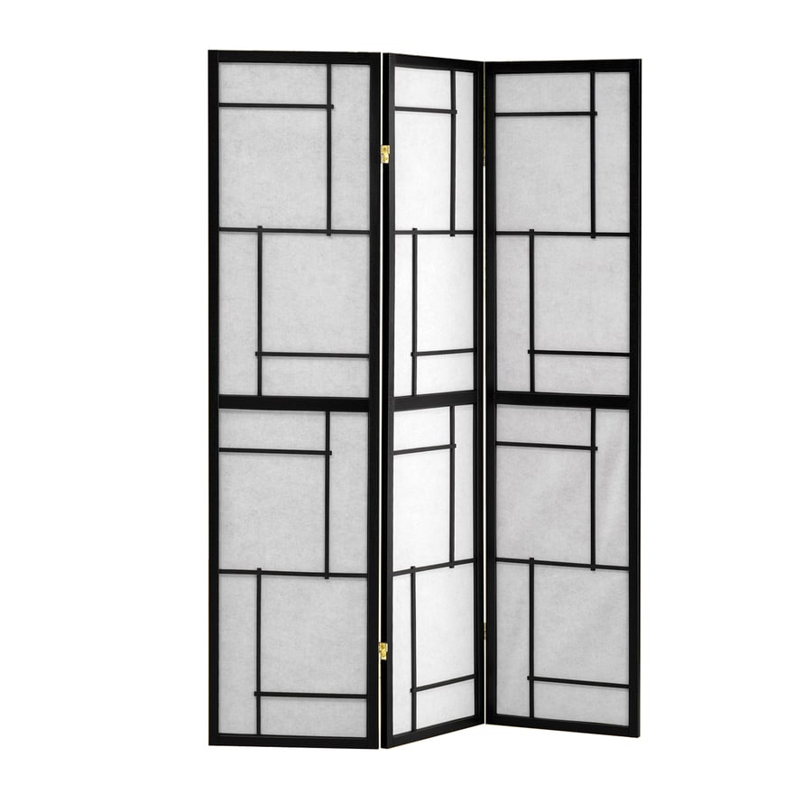 Coaster Fine Furniture 3-Panel Black Wood and Fabric Folding Indoor Privacy Screen