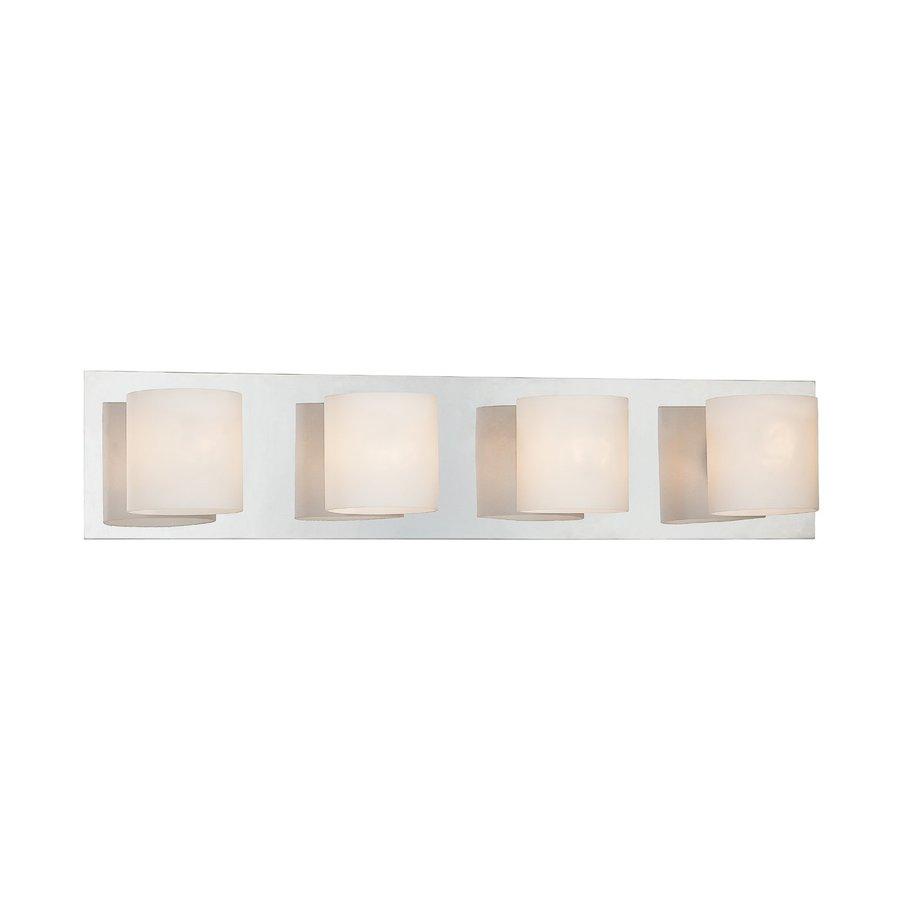 Eurofase 4-Light Geos Chrome Bathroom Vanity Light