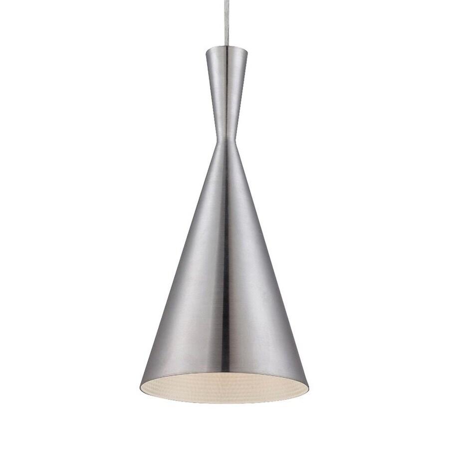 Eurofase Bronx 7.5-in Brushed Aluminum Industrial Mini Cone Pendant