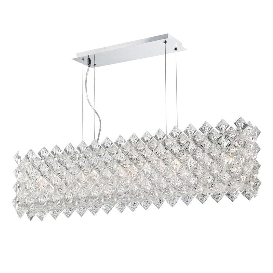 Eurofase Cristallo 7-in W 5-Light Chrome Kitchen Island Light with   Shade