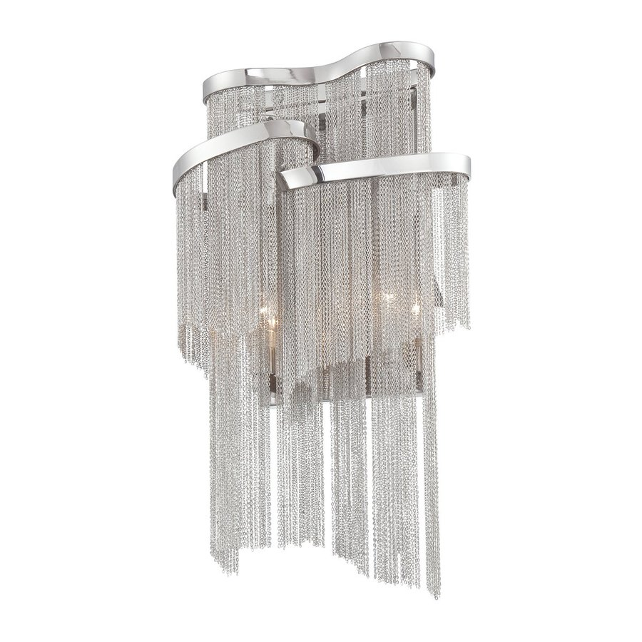 Eurofase Cadena 10-in W 1-Light Nickel Pocket Hardwired Wall Sconce