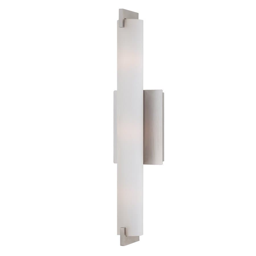 Eurofase Zuma 20.5-in W 1-Light Brushed Nickel Arm Hardwired Wall Sconce
