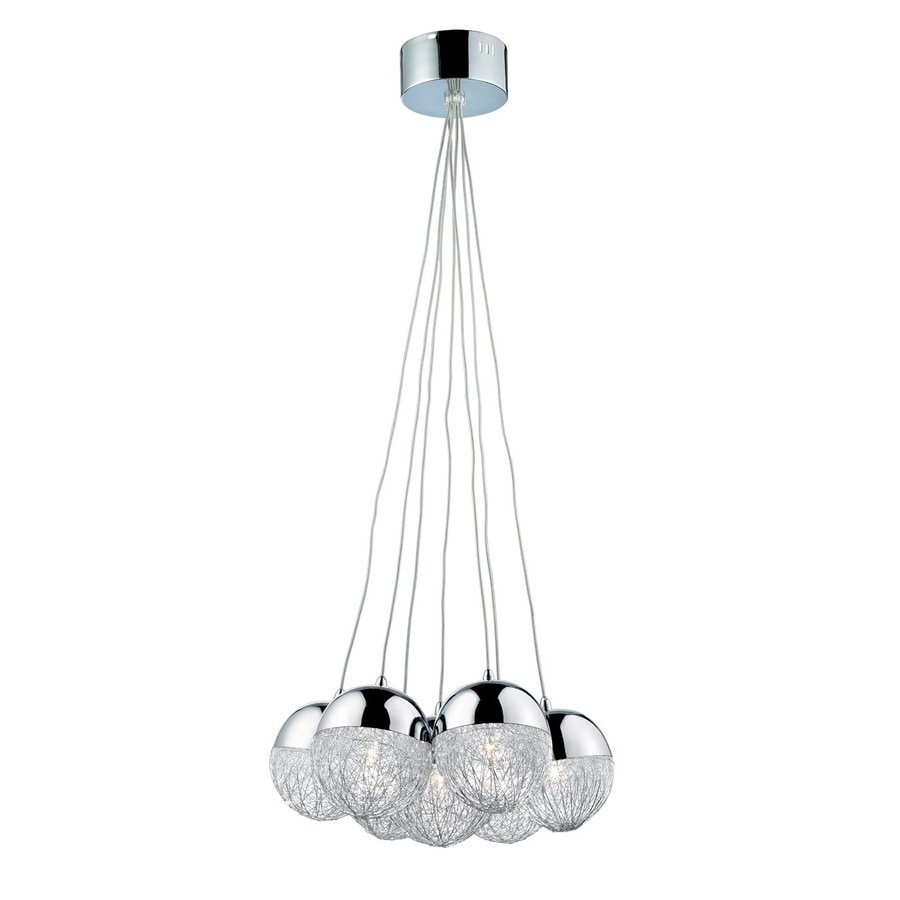 Eurofase Sonnet 17.25-in Chrome Industrial Multi-Light Orb Pendant
