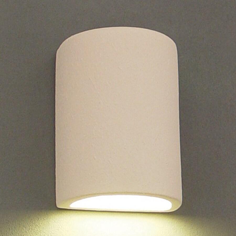 Ameritec Lighting Half Cylinder 8.75-in H Paintable Bisque Dark Sky Outdoor Wall Light