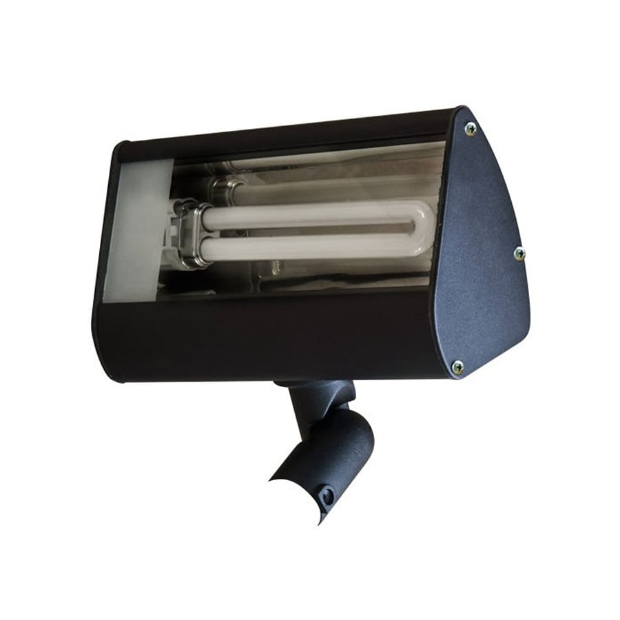 Dabmar Lighting 4.5-in 1-Head Fluorescent Black Switch-Controlled Flood Light