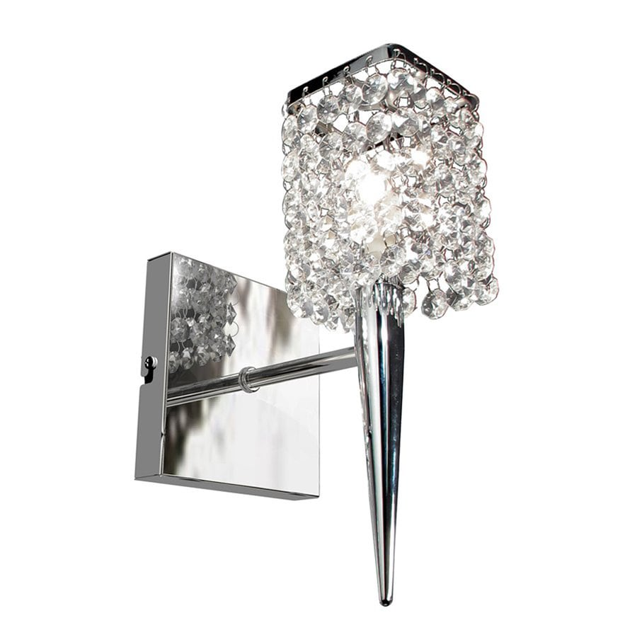 BAZZ Glam 4.5-in W 1-Light Chrome Arm Wall Sconce