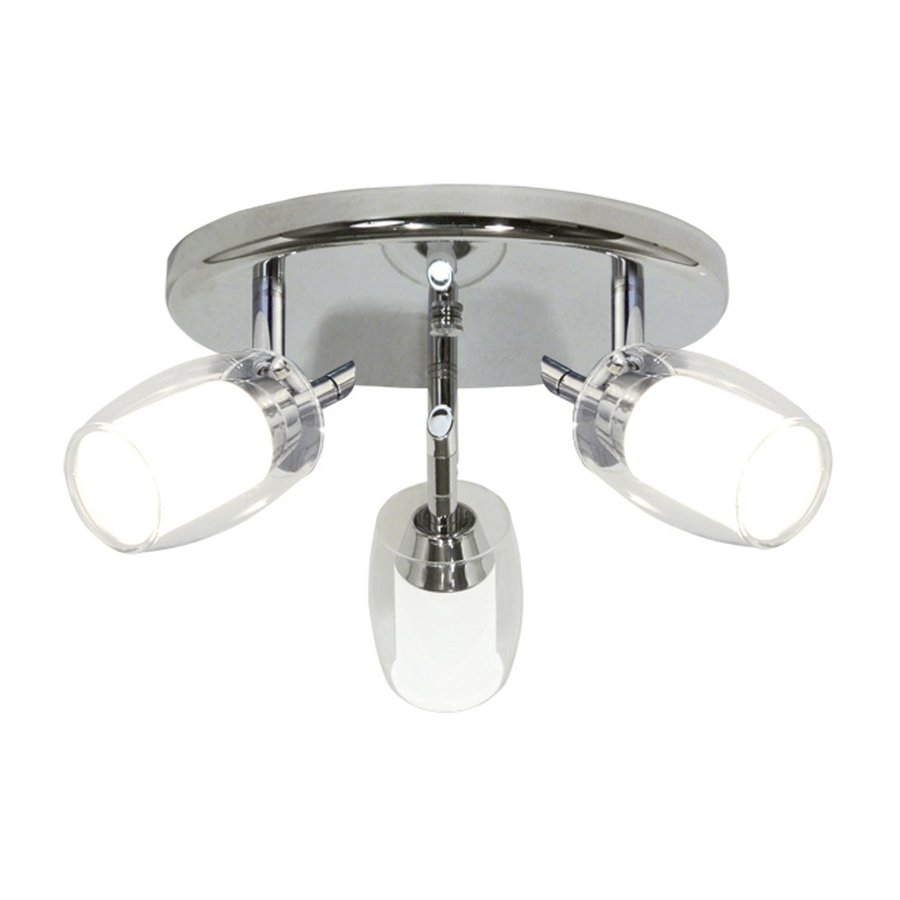 BAZZ Accent 9-in W Chrome Frosted Glass Semi-Flush Mount Light