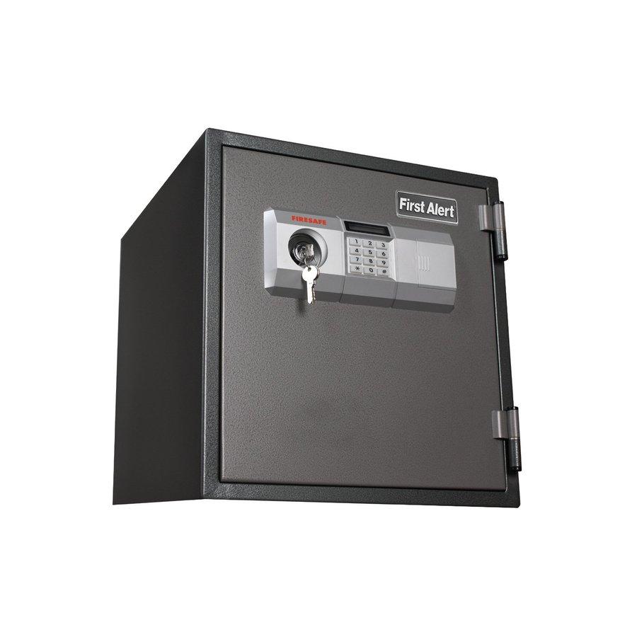 Shop first alert 1 2 cu ft combination lock commercial for 1 51 cu ft solid steel digital floor safe