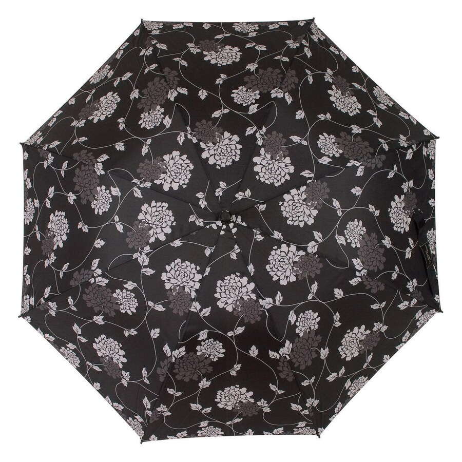 "Laura Ashley Garden 2'1"" Isodore Charcoal Round Patio Umbrella"