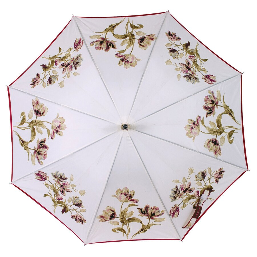 "Laura Ashley Garden 2'1"" Gosford Plum Round Patio Umbrella"