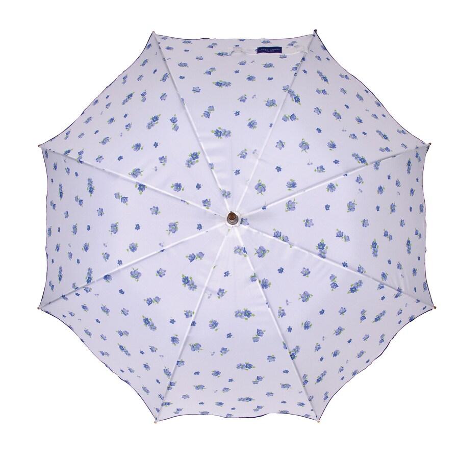 Laura Ashley Garden 2-ft 1-in x 2-ft 1-in Sapphire Round Patio Umbrella