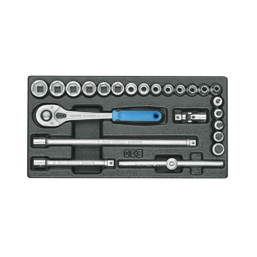 Gedore 24-Piece Metric 3/8-in Drive Socket Set