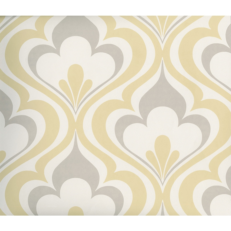 Brewster Wallcovering Yellow Strippable Non-Woven Paper Unpasted Classic Wallpaper