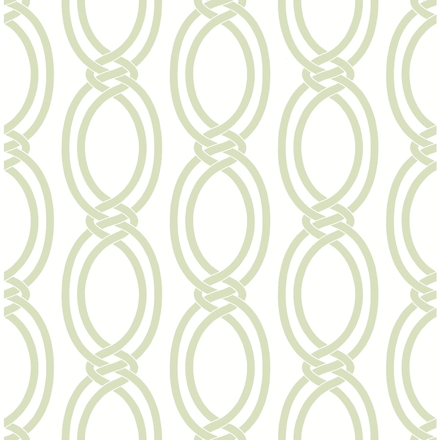 Brewster Wallcovering Light Green Strippable Non-Woven Paper Unpasted Classic Wallpaper