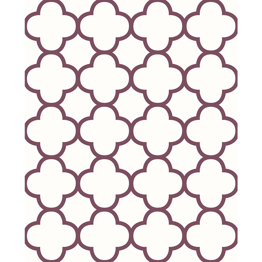 Brewster Wallcovering Burgundy Strippable Non-Woven Paper Unpasted Classic Wallpaper