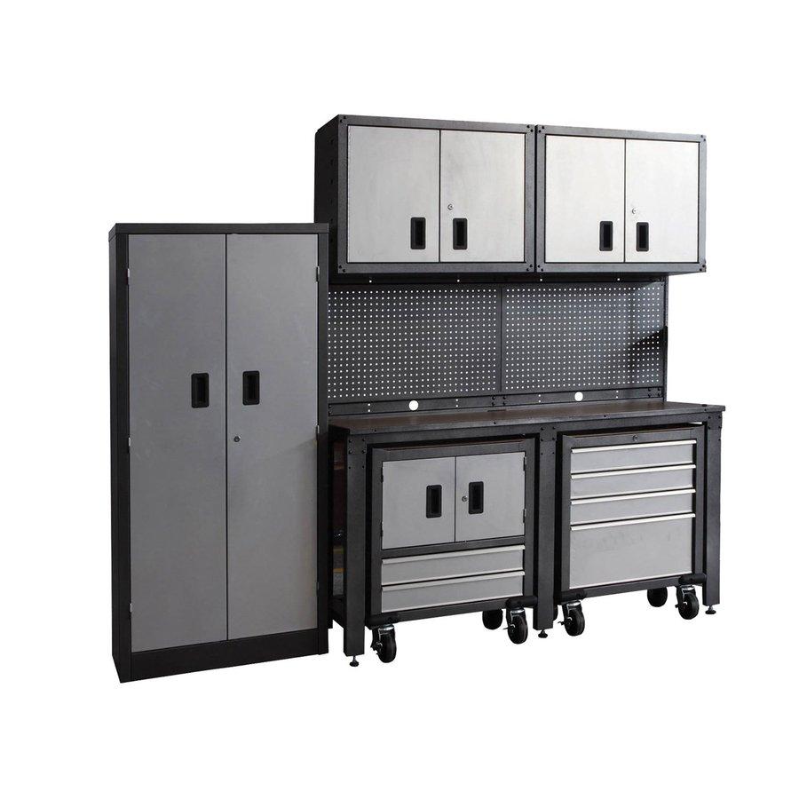 International Tool Storage GOS II 95-in W x 80-in H Gray Steel Garage Storage System