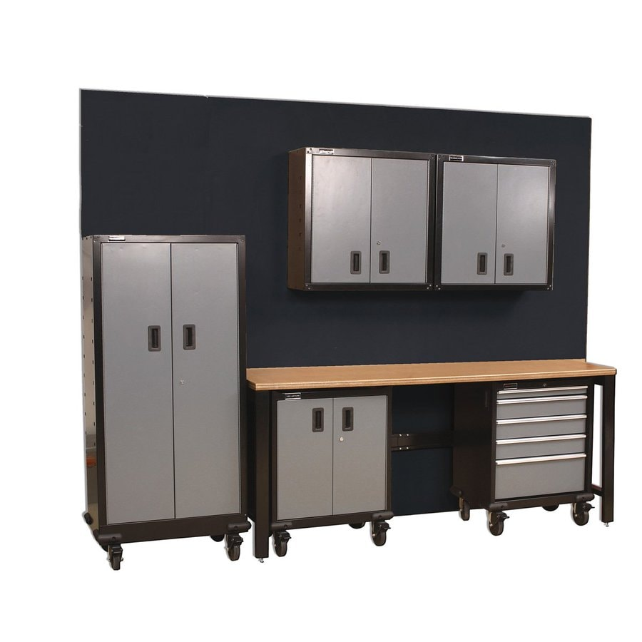 International Tool Storage GOS I 114-in W x 80.87-in H Gray Steel Garage Storage System