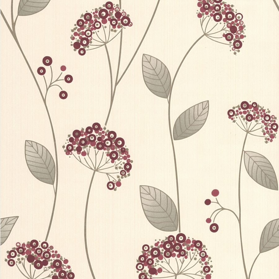 Graham & Brown Red Strippable Non-Woven Paper Unpasted Textured Wallpaper