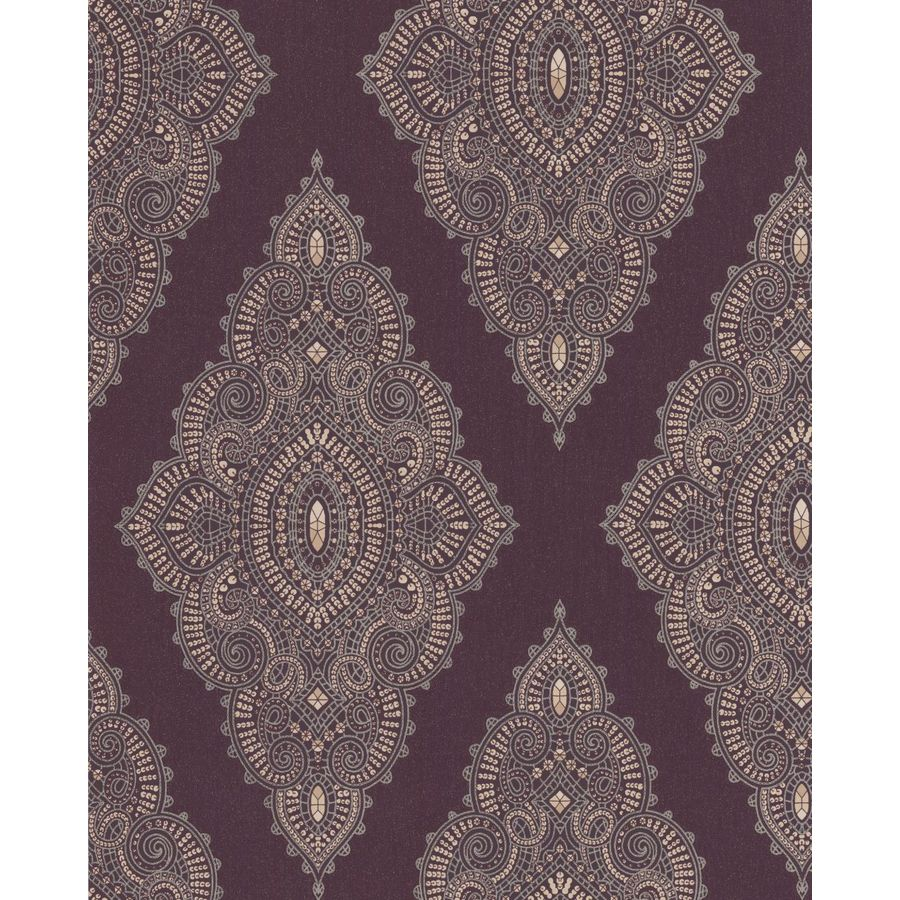 Graham & Brown Purple Strippable Non-Woven Paper Unpasted Textured Wallpaper