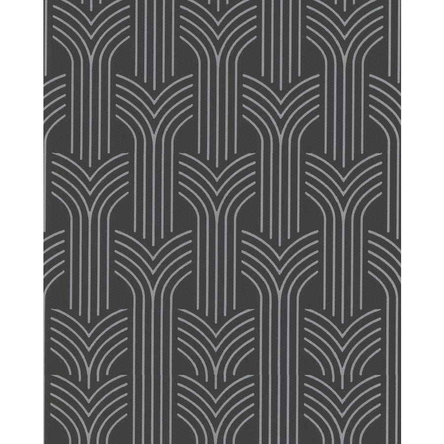 Superfresco Easy Black and Silver Strippable Non-Woven Paper Unpasted Textured Wallpaper