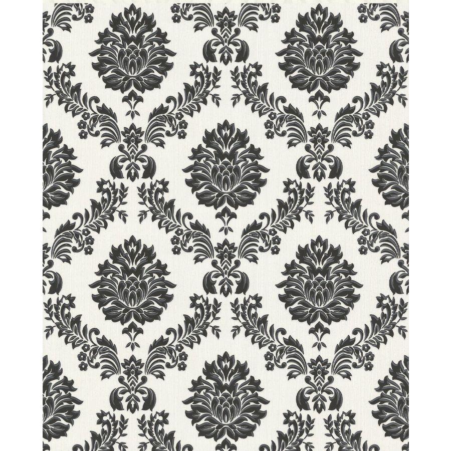 Graham & Brown Black/White Peelable Paper Unpasted Textured Wallpaper