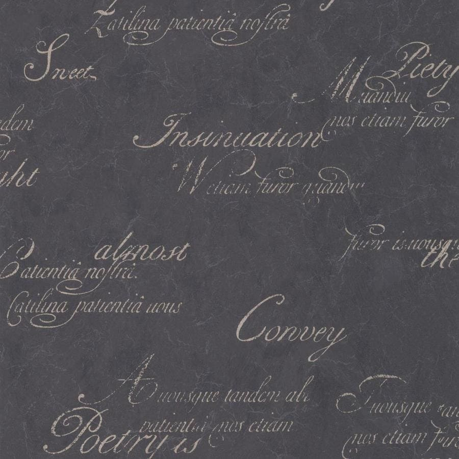 Graham & Brown Charcoal Strippable Non-Woven Paper Unpasted Textured Wallpaper
