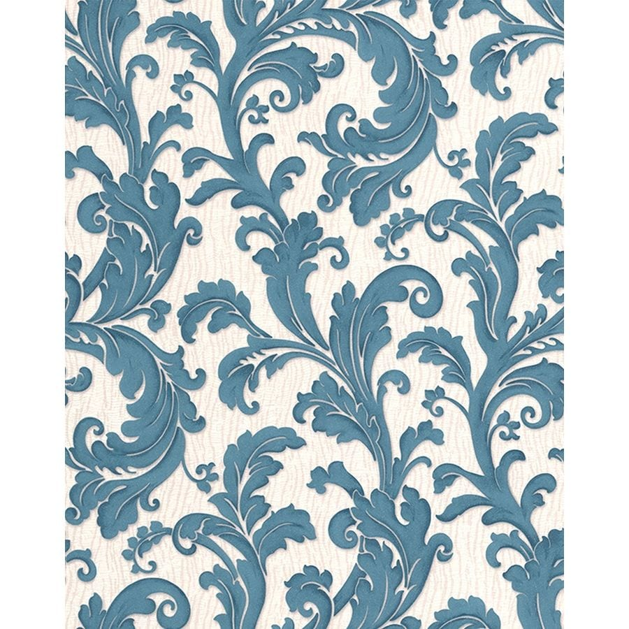 Graham & Brown Teal Strippable Non-Woven Paper Unpasted Textured Wallpaper