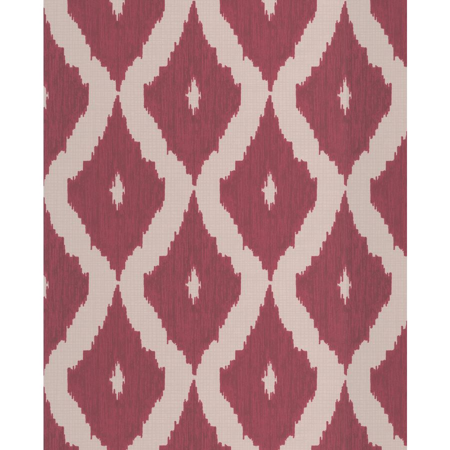Graham & Brown Carmine/Taupe Strippable Non-Woven Paper Unpasted Textured Wallpaper