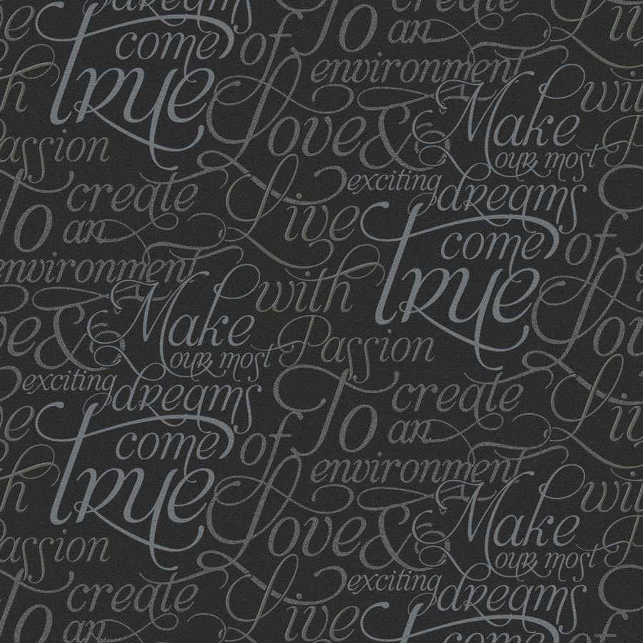 Graham & Brown Black Strippable Non-Woven Paper Unpasted Textured Wallpaper