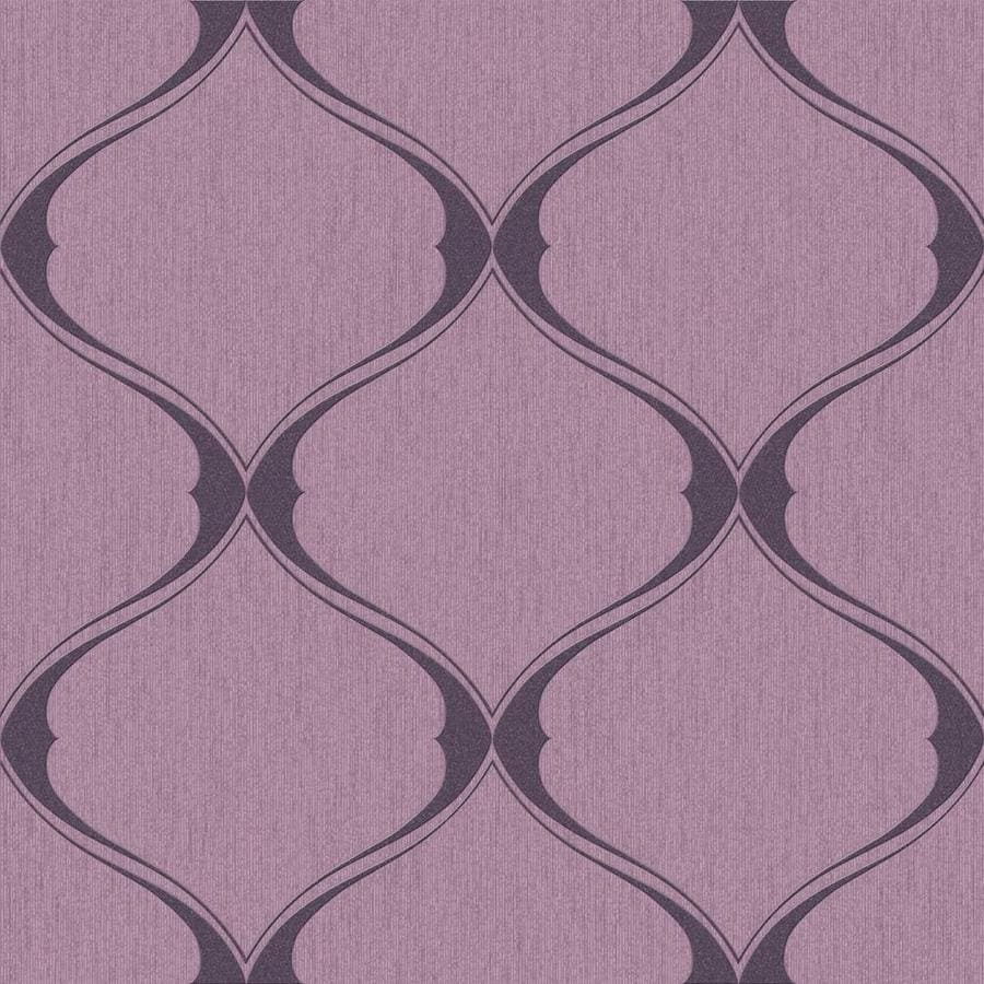 Graham & Brown Purple Peelable Paper Unpasted Textured Wallpaper