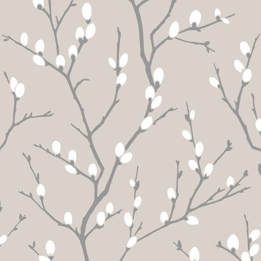 Graham & Brown Taupe/Charcoal Strippable Non-Woven Paper Unpasted Textured Wallpaper
