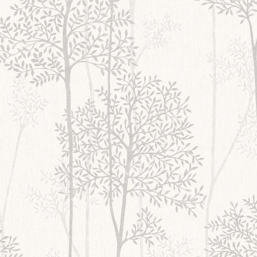 Graham & Brown White Mica Strippable Non-Woven Paper Unpasted Textured Wallpaper